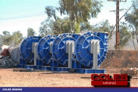 Warman 500 x 450 SAG mill discharge pumps with gearboxes & motors